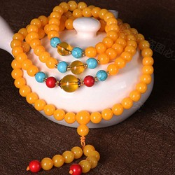 Beeswax 108 Bead Bracelet Men/Women Jewelry Gift